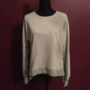 Victoria Sport Heather Gray Pullover Embroidered